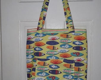 The Surf Board Tote Bag