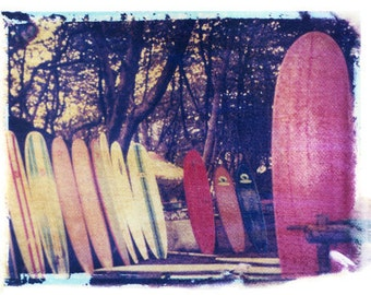 Surfing Surfboards by she hit pause studios- Matt Schwartz  11x14 Polaroid Print