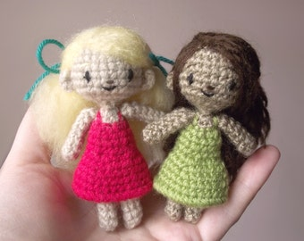 Sidonie the tiny crocheted doll - pattern PDF