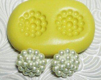 PEARL CAB Flexible Silicone Rubber Push Mold for Resin Wax Fondant Clay Ice