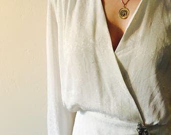 White  and silver striped ZOGBAUM BLOUSE
