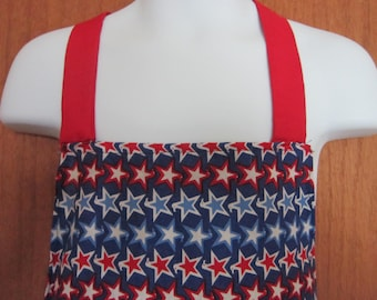 Patriotic childs apron Blue, Red White stars