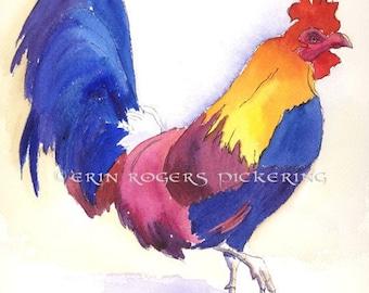 Rooster 8x10 Farm Animal Kitchen PRINT