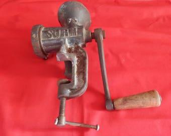 Antique cast iron meat GRINDER