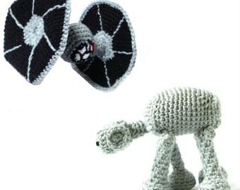 Star Wars Crochet Amigurumi Patterns - Tie Fighter & AT-AT