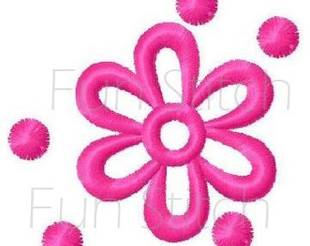 daisy flower floral machine embroidery design