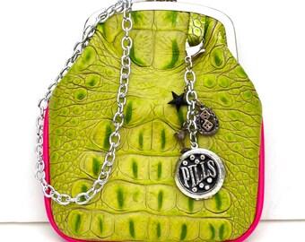 Couture Vintage Car inspired Handbag. Handmade in the USA- Pinky Lee- Wonderland