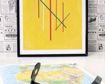 Seven - modern minimalist geometric art- Home, Kids Room, or Office Decor