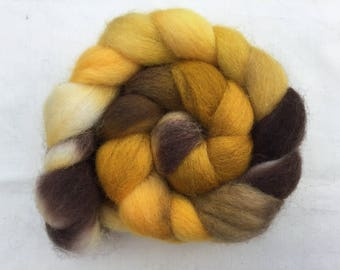 Hand Dyed  Jamieson & Smith Shetland wool tops