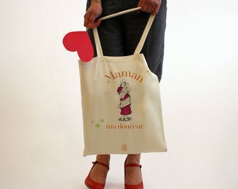 """MOM my sweetness"", Tote Bag bag to customize, mothers day, Tote, bag canvas, cotton bag, handbag, diaper bag, gift"