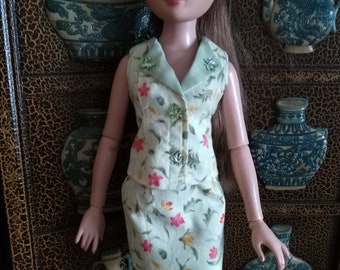 "OOAK doll clothes for 16"" Ellowyne Wilde - Serene in Green"