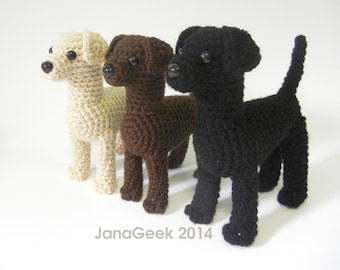Labrador Puppy Dog Amigurumi Crochet Pattern