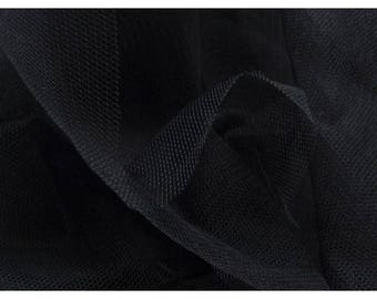 Fabric tulle black rigid, perfect for skirts, deco, costumes...