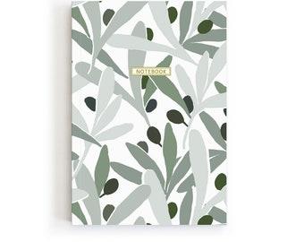 Olives Notebook, Recipe Journal, Pretty Notebook, Olives Lover Gift, Mediterranean Gift, Olive Stationery, Traveler Notebook