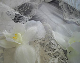 White Orchid Veil Control Designed for Outdoor Phototography Aid Destination Beach Ocean Weddings Handmade by handcraftusa Ready To Ship