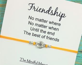 Best Friend Bracelet   Friendship Bracelet   Compass Bracelet   No Matter Where No Matter When   Gift for Best Friend   Long Distance Gift