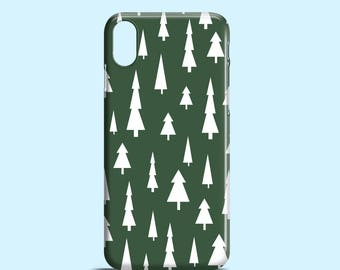 Christmas iPhone 8 case / pines iPhone X case / festive iPhone 7 case / Green iPhone 7 Plus case / iPhone and Samsung Galaxy phones case