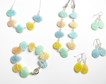Easter Egg Earrings- green, blue, or yellow