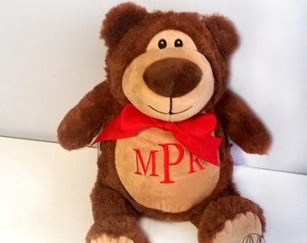 Personalized stuffed animal, stuffed bear, monogrammed baby gift, personalized baby gift, new baby gift, monogrammed baby cubbies