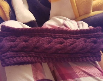 Cable knit ear warmer