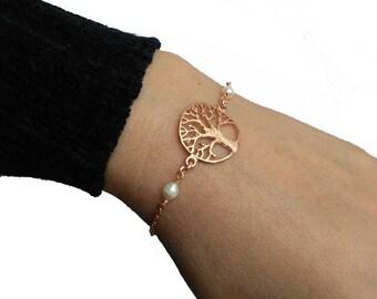 Sterling silver bracelet, Pearls bracelet, 925 Bracelet.