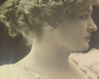 SALE Vintage RPPC of a Pretty Lady