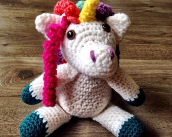 Crochet Unicorn, Crochet Plushie, Unicorn Plushie
