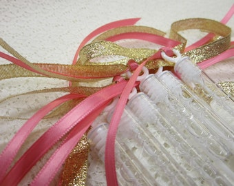60 Wedding Bubble Wands Double ribbon