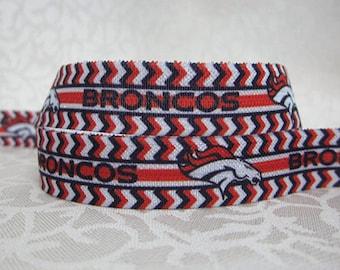 Denver Broncos Fold Over Elastic - 5 Yards