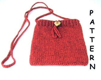 pdf Knitting Pattern Small Shoulder Bag Red Heart