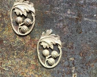 Stamped Tin Fig Leaf Badges
