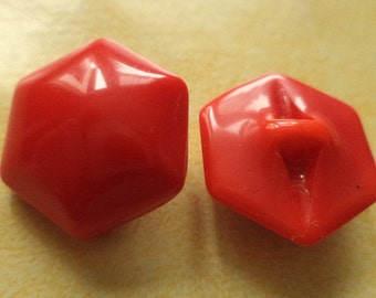 18 mm (4385) glass button 10 Red GLASS KNOBS