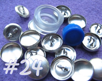 Cover Button Kit - 5/8 inch - Size 24 starter kit tool loop back buttons diy notion supplies rubber hand press non machinery
