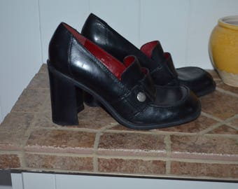 SALE 20%! Shoes leather Brazil T.Hilfiger 90's Chunky like new 8US