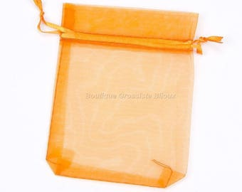 9x12cm - Orange - 100 or 500 Organza sleeves
