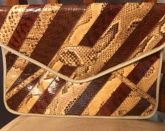 Exquisite snake skin purse by Susan Gail, made in Spain