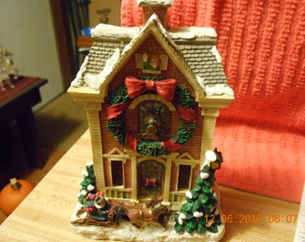 Christmas Clock Tower Music Box