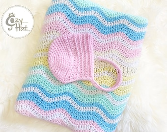 READY TO SHIP! Cozy Posey Baby Bonnet Pink or Yellow. Photography Prop. Size 3-6 months Baby. Sale