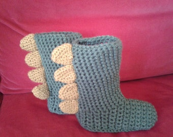 crochet handmade slippers boots for toddlers to adults