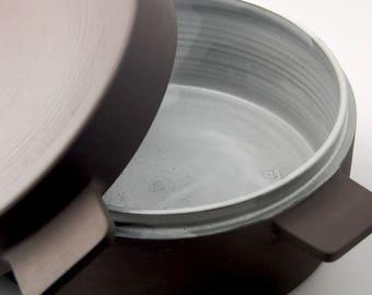 Ceramic casserole dish (16 cups) - handthrown pottery stewpan