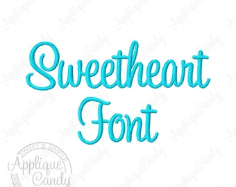 """Sweetheart Script Embroidery Font - Letters Numbers & Punctuation  - 3 Sizes - 1""""  2"""" 3"""" Machine Embroidery Font INSTANT DOWNLOAD"""