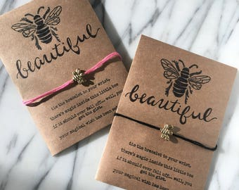 Bee Magical Wish Bracelets (Bee Beautiful)