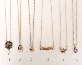 Antique Stickpin, Slide, and Lace Pin Conversion Necklaces, Choose One!