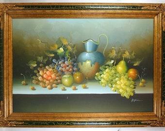 Still life oil painting in Frame