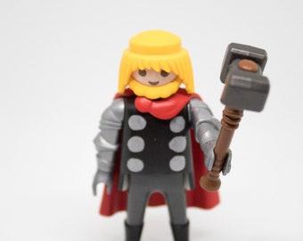 Thor marvel thor ragnarok, the dark world, god of thunder, Avengers, prince of asgard, loki, hulk Playmobil customized
