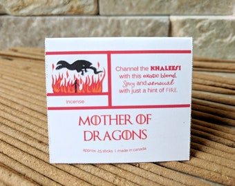 Mother of Dragons Scented Incense Sticks- Dragon's Blood Incense