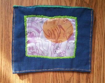 Embroidered Zipper Bag