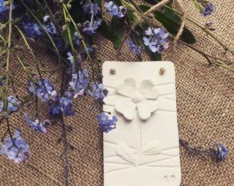 Hand crafed clay floral 60th birthday plaque