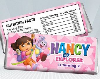 Dora Candy Bar Wrapper