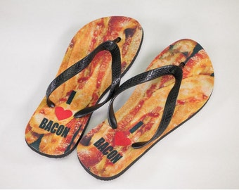 Bacon Flip Flops, I love Bacon, Gifts For Him